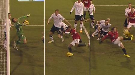 TRIPPELSJANSE: Manchester United fikk ikke ballen i mål.