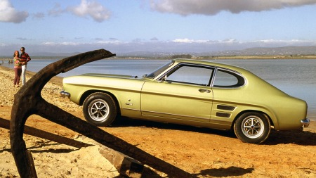 De fineste utgavene av Capri, her en GT, hadde varmetråder i bakruten fra begynnelsen i 1969, har vi funnet ut. Men om den var først?