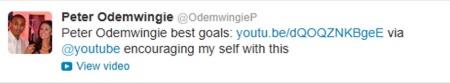 Peter Odemwingie-tweet