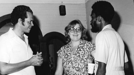 OPERASJON DAGSVERK: Erna Solberg ledet Operasjon Dagsverk i 1979. 3,5 millioner ble samlet inn til skolebygging på Jamaica.  (Foto: Operasjon Dagsverk)