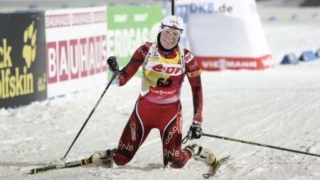 SLITEN GULLVINNER: Tora Berger knuste konkurrentene på normalprogrammet i VM og tok sitt tredje gull. (Foto: Solum, Stian Lysberg)