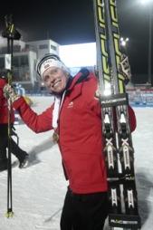 GULLGLISET: Tora Berger tok sitt tredje VM-gull i Nove Mesto onsdag. (Foto: Solum, Stian Lysberg)