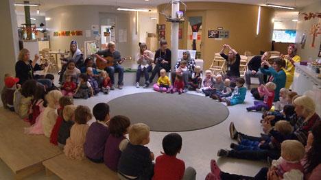 BARNEHAGEØKNING: 80 prosent av norske ettåringer går i barnehage.   For 20 år siden var tallet 20 prosent. (Foto: Frank Melhus / TV 2)
