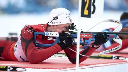SIKKER: Henrik L'Abee-Lund viste skyting i verdensklasse da Norge vant stafetten (Foto: Solum, Stian Lysberg/NTB scanpix)