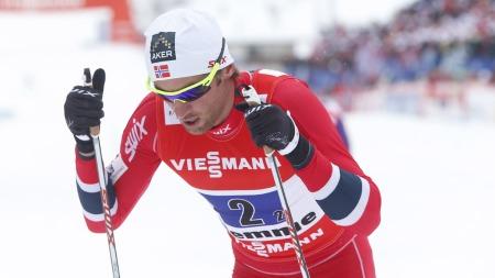 MISSET FINALEN: Petter Northug gikk inn tid på den siste etappen, men det holdt ikke til en finaleplass for Norge. (Foto: Åserud, Lise)