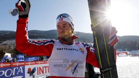 SKI-VM i Val di Fiemme 2013. Stafett herrer 4x10 kilometer på langrennstadion i Val di Fiemme, Italia fredag.  Tord Asle Gjerdalen (1-1), Eldar Rønning (1-2), Sjur Røthe (1-3) og Petter Northug (1-4). (Foto: Åserud, Lise/NTB scanpix)