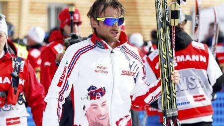 Ski-VM i Val di Fiemme 2013. Petter Northug etter gullet på 15 kilometer friteknikk i på langrennsstadion i Val di Fiemme, Italia onsdag. (Foto: Åserud, Lise/NTB scanpix)