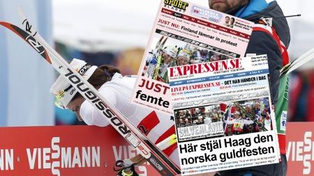 SØLVJUBEL: Svenske aviser fra seg av begeitring etter ny sølvmedalje. Ida Ingemarsdottre ga alt for å få det til.