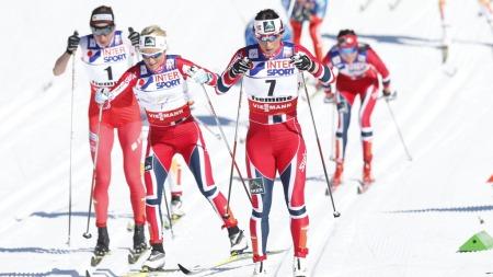 Bjørgen, Johaug og Kowalczyk (Foto: Åserud, Lise)