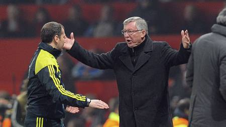 Sir Alex Ferguson var rasende etter Nanis utvisning mot Real Madrid. (Foto: Martin Rickett/Pa Photos)