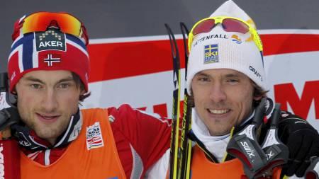 HYLLER NORTHUG: Johan Olsson mener han ikke er i samme kategori som Petter Northug. (Foto: Bendiksby, Terje/NTB scanpix)