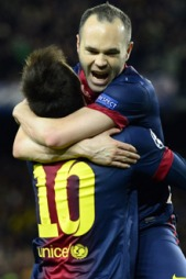 DRØMMEDUOEN: Lionel Messi og Andrés Iniesta fant nok en gang tonen på Camp Nou. (Foto: JAVIER SORIANO, ©js/ql)