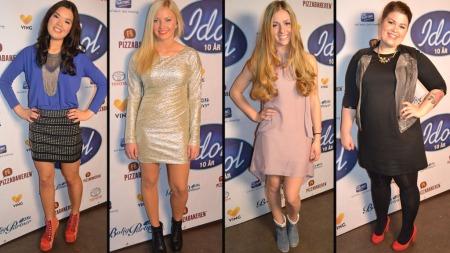 1)Astrid Sugaren, 2) Astrid Smeplass, 3) Siri, 4) Martine (Foto: Elin Tagestad Frithjofsen)