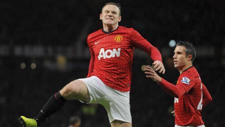 Wayne Rooney feirer scoring. (Foto: ANDREW YATES/Afp)