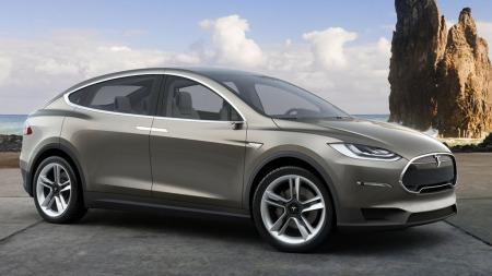 Slik ser Tesla X ut. Dessverre vil det gå ganske lang tid til vi får se denne på veiene i Norge. Produksjonen er nemlig utsatt ett år ...