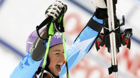 VANT IGJEN: Tina Maze vant på ny i Lenzerheide søndag. (Foto: PASCAL LAUENER/Reuters)