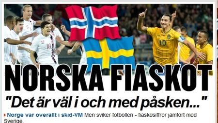 HARSELERER MED PUBLIKUMSSVIKTEN: Den svenske avisen Expressen skriver at 50.000 vil se Sverige - og kun 12.000 vil se Norge.