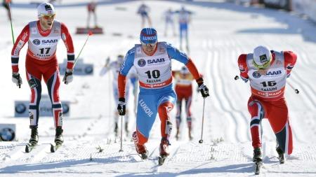 TETT: Eldar Rønning var sterkest i spurten i Falun. (Foto: ANDERS WIKLUND, ©AW HL JW**LON**)