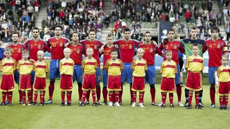 Spania U21 (Foto: HENNING BAGGER/Afp)