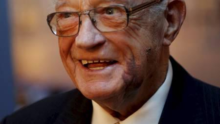 Skøyteløper Hjalmar Andersen fylte 90 år, og ble feiret på Skøytemuseet i Oslo 12 mars. (Foto: Åserud, Lise/NTB scanpix)