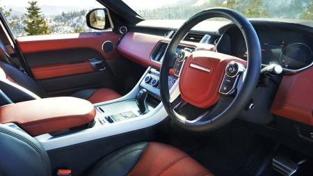 00_Range Rover interiør rødt