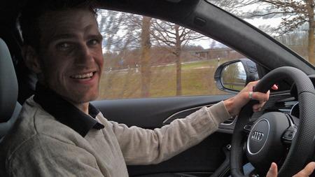 En helt grei dag på jobben: Brooms Vegard Møller Johnsen har akkurat vært i Tyskland, på lanseringen av nye Audi RS6.