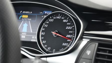 Audi RS6 speedometer