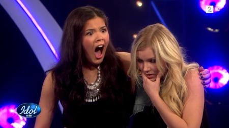 Astridene i Idol (Foto: TV 2)