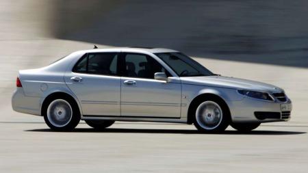 Slik så den ut mot slutten - Saab 9-5 som ble solgt til Kina.