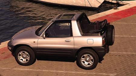 Noen få biler ble levert med både takluke og soft-top.