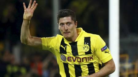 Borussia   Dortmunds Robert Lewandowsk (Foto: KAI PFAFFENBACH/Reuters)
