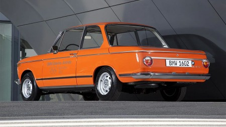 BMW 1602e. Dette er elektrisk BMW fra 1972som her en rekkevidde på 30 km.