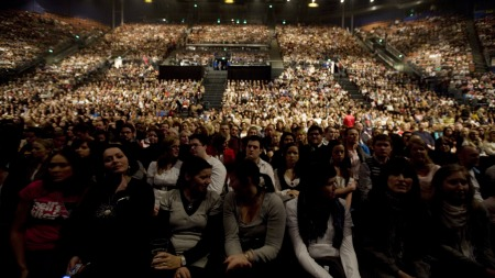 Publikum i Oslo Spektrum (Foto: Lien, Kyrre/NTB Scanpix, ©Pk)