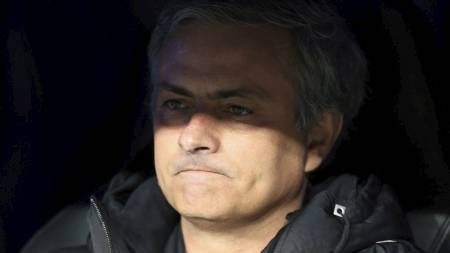 Jose Mourinho under Real-Dortmund. (Foto: Mike Egerton/Pa Photos)
