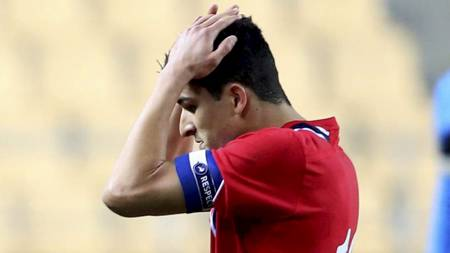 Tarik Elyounoussi  etter privatlandskampen i fotball mellom Norge og Ukraina på Estadio Olimpico i Sevilla i Spania februar 2013. Norge tapte 0-2. (Foto: Larsen, Håkon Mosvold/NTB scanpix)