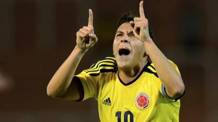 ETTERTRAKTET: Colombianske Juan Fernando Quintero er ønsket av flere europeiske toppklubber (Foto: DANIEL GARCIA/Afp)