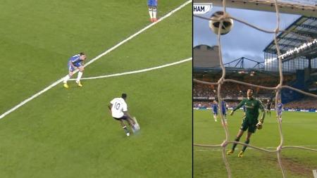 UTLIGNET: Emmanuel Adebayor utnyttet at ingen gikk på ham og skrudde ballen i vinkelen.