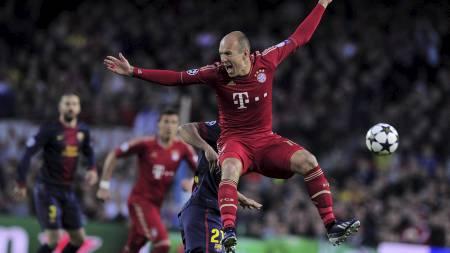 FERDIG: Alt tyder på at Arjen Robben er ferdig i Bayern München   etter denne sesongen. (Foto: JOSEP LAGO/Afp)