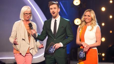 Helen   Bjørnøy, Stian Blipp og Solveig Kloppen i Idol gir tilbake (Foto: Glenn   Svendsen/TV 2)