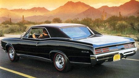Slik ser 1966 modellen av Pontiac GTO ut. En skikkelig flott klassiker!
