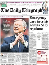 media-sir-alex-ferguson-retires-telegraph-front-page-may-9