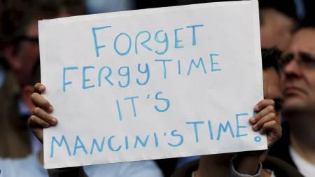 HYLLET MANCINI: Manchester City-fansen vil aldri glemme Roberto Mancini. (Foto: Dave Thompson/Pa Photos)