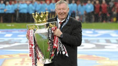 AVSLUTTET PÅ TOPP: Sir Alex Ferguson avsluttet som manager i   Manchester United ved å vinne ligatittelen. (Foto: Martin Rickett/Pa   Photos)