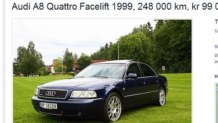 Audi-A8 (Foto: Faksimile fra finn.no)
