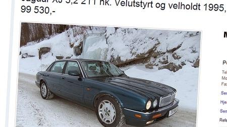 Jaguar-XJ-annonse. (Foto: Faksimile fra finn.no)