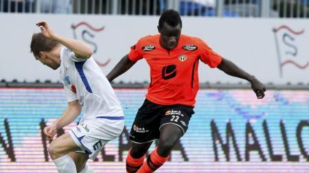 MATCHVINNER: Malick Mane med sitt femte mål for sesongen. (Foto: Jan Kåre Ness/NTB scanpix)