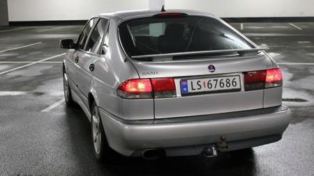 Joakims bil er en 2002-modell, og dermed siste årsmodell av den første generasjonen 9-3. Med den forsvant også combicoupeen, en gammel paradegren for Saab. (Foto: Privat)