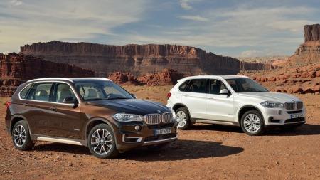 00 BMW X5 2014 brun og hvit forfra