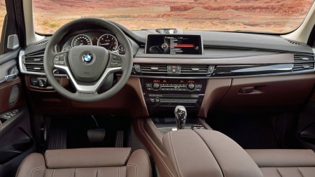 00 BMW X5 2014 interiør brunt