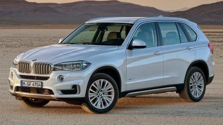 BMW X5 2014 sølv forfra